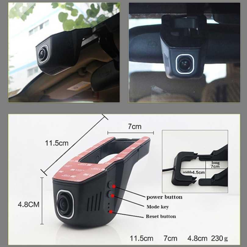 Для Volkswagen Lang Yi Автомобильный видеорегистратор для вождения видео рекордер мини управление приложение Wifi камера FHD 1080P регистратор приборная панель камера CCD full hd