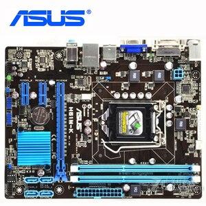 ASUS H61M-K Original Motherboard DDR3 16GB H61M K For Intel H61 Desktop Mainboard PCI-E X16 SATA II LGA 1155 VGA Used