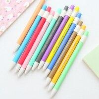 12 Teile/los Koreanische 2mm Farbe Bleistifte Klicken Mechanische Bleistift Nette Kinder Geschenke Kawaii Stationären Schule Liefert FB563