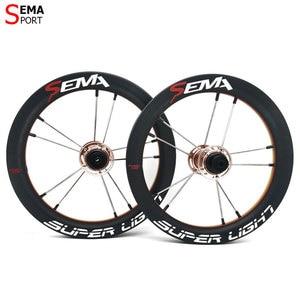 Image 2 - Karbon tekerlek SEMA SL170 karbon tekerlek 12 inç süper hafif tekerlekler SKF seramik rulman çocuklar için denge bisikleti titanium konuşmacı