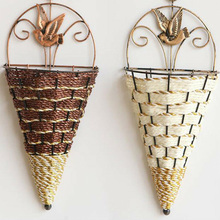 Ornament Planter-Pot Flower-Holder Hanging Wall Creative-Design Conical-Shape Home-Art