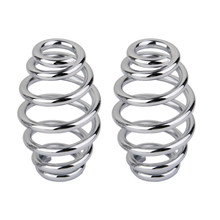 3' Chrome Coiled Solo Seat Springs For Chopper Bobber Motorcycle(China)