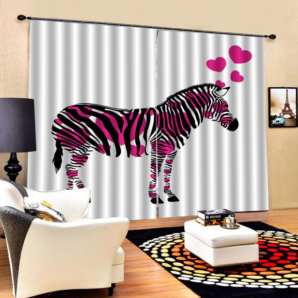 horse curtains Luxury Blackout 3D Window Curtains For Living Room Bedroom Customized size Decoration curtains
