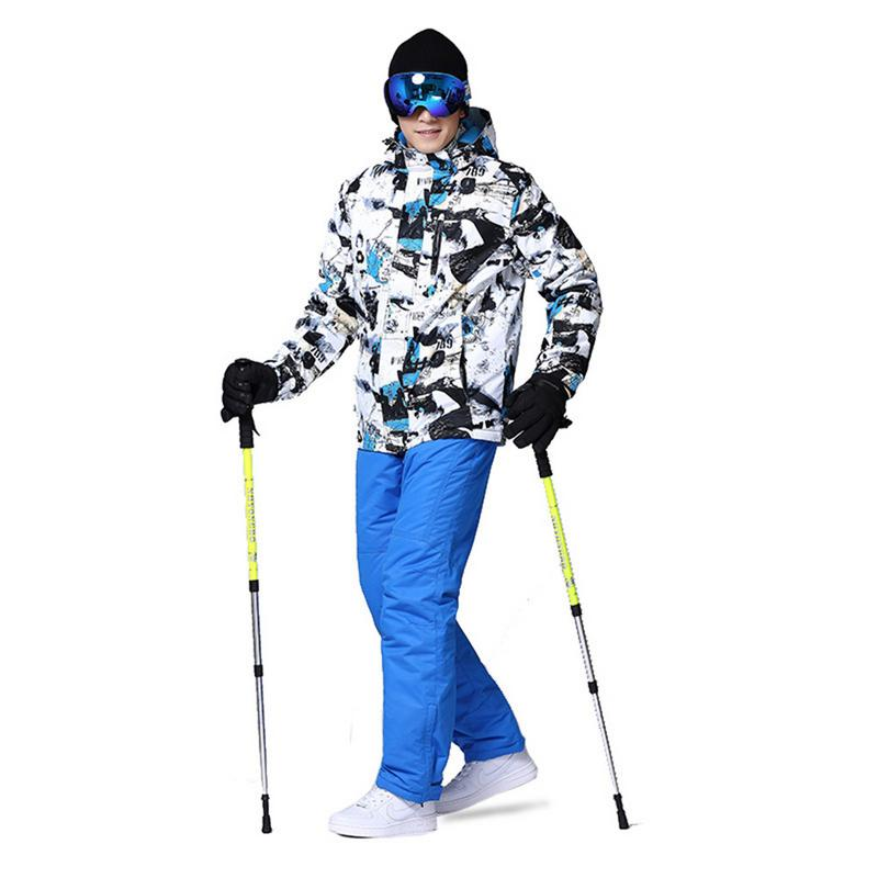 Ski Suit Men Winter New Outdoor Windproof Waterproof Thermal Snow Jacket And Pants Clothes Skiing And Snowboarding Suits 3XL