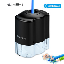 Офисные принадлежности электрическая автоматическая точилка для карандашей школьная точилка канцелярские принадлежности для карандашей и цветных карандашей батарея/Питание от USB