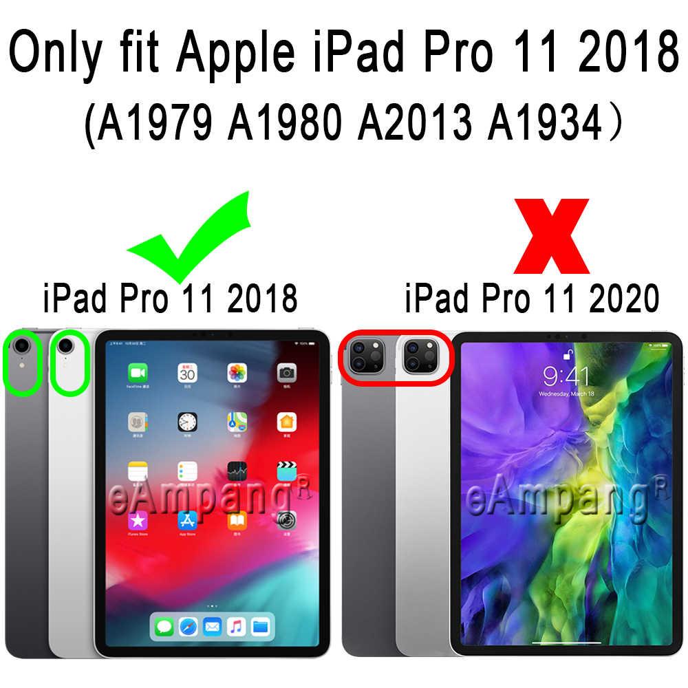 สำหรับ Apple iPad Pro 11 2018 ฝาครอบ A1979 A1980 A2013 A1934 Slim หนัง Funda แป้นพิมพ์บลูทูธดินสอสล็อต