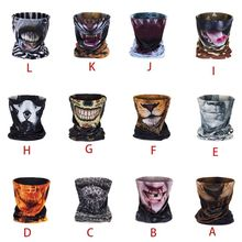 Unisex 3D Animal Mouth Print Neck Gaiter Scarf Seamless Bandana Face Mask Tube Multifunction Outdoor Motorcycle Sunscreen Balacl