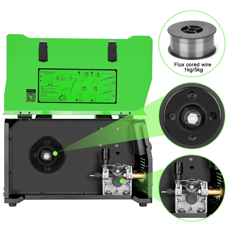 Tools : REBOOT MIG Welder MIG160 AC220V 1KG 5KG Gas Gasless MIG Stick Lift TIG Welder 4 in 1 Flux Core  MIG Inverter Welding Machine
