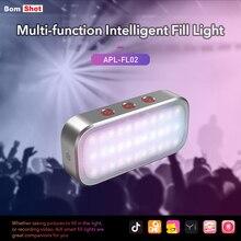 APEXEL AI Modalità Flash LED 7 Variopinta Del Partito Luce Respirazione Multi LED Selfie Portatile Del Telefono Mobile Flash Per La Nuova moda divertimento regalo