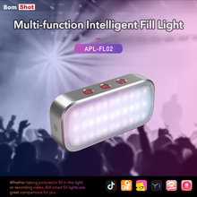APEXEL AI Mode Flash LED 7 Colorful Party Breathing Light Multi LED Selfie Portable Mobile Phone Flash For New fashion Fun gift