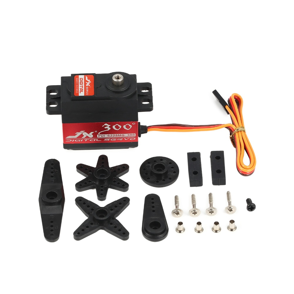 High quality models Share To JX Servo PDI-6225MG-300 Degree PDI-6225MG 25kg Metal Gear Digital Servo For RC Airplane image