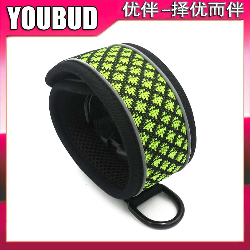New Products Pet Dog Outdoor Small And Medium Dog Collar Reflective Adjustable Dog In-ground Fence Receiver Collar Sponge Dog Co