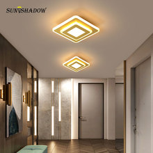 18W Acrylic Modern Led Ceiling Lamp Gold Body Surface Moutned Light For Corridor Bedroom Living room Lustres