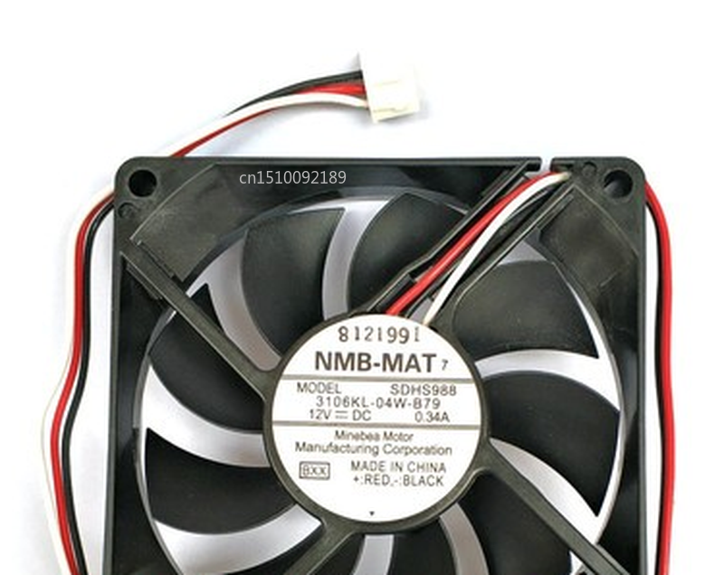 Free Shipping Original For NMB 8CM 3106KL-04W-B79 8015 12v 0.34a COOLING FAN