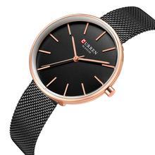 CURREN Relógio Feminino High Quality Simplicity Modern Women Wristwatch Stainless Steel Business Ultra-Thin Quartz Watch Outdoor