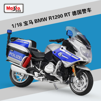 1:18 Maisto R1200 RT Police Motorcycle Metal Diecast Model Motorcycle Collectibles 1