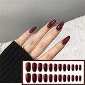 Накладные ногти «Балерина» 24 шт./кор., накладные ногти с полным покрытием, носимые съемные накладные ногти с клеем для прессования, инструме...
