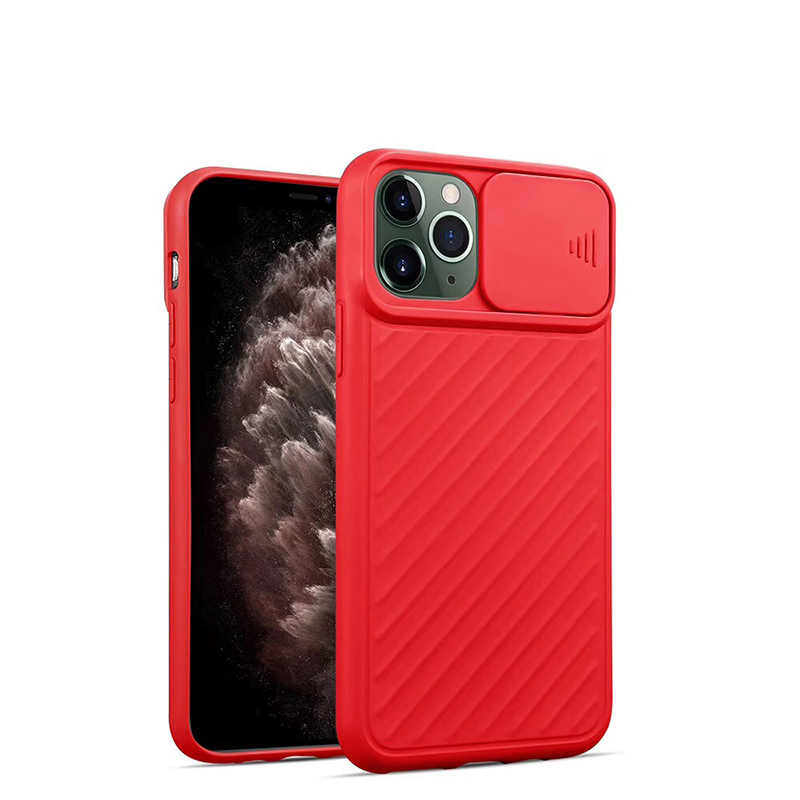 Mewah Tipis Lembut Fashion Slider Case untuk iPhone 11 Pro Max X XS Xr Silikon Penutup Belakang Kulit Merasa untuk iphone Se 2020 7 8 6 S PLUS