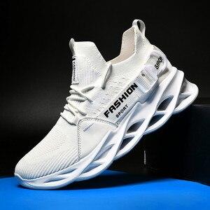 Image 3 - חדש רשת גברים סניקרס נעליים יומיומיות Lac למעלה גברים קלת משקל נוח לנשימה הליכה Sneaker Zapatillas Hombre ריצה