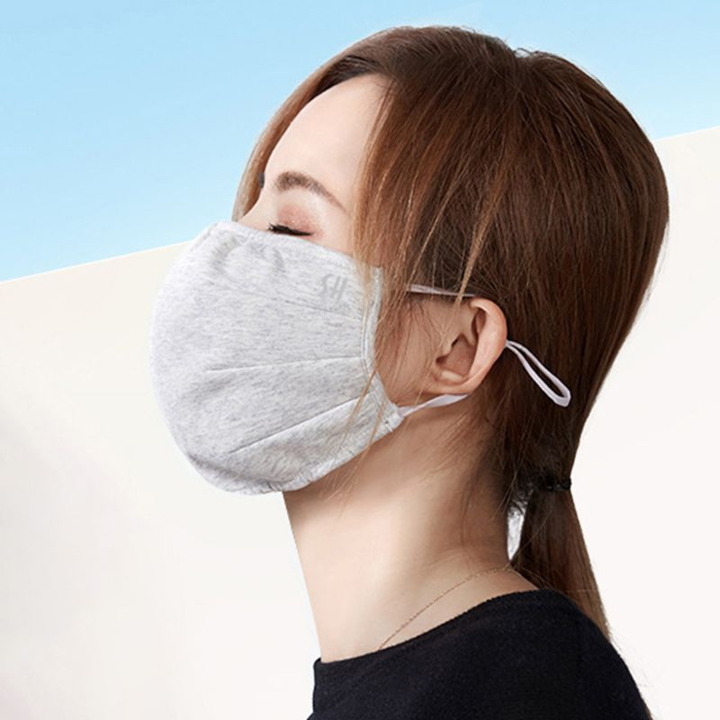 Unisex Winter Plush Lining Half Face Mouth Mask Dustproof Windproof Mouth-Muffle