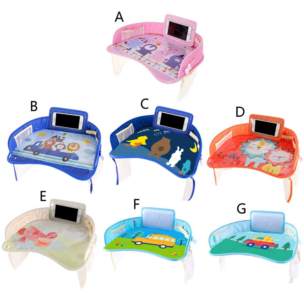 Baby Car Tray Plates Portable Waterproof Painting Eating Table Desk For Kids Car Safety Seat Children Toys Storage Holder