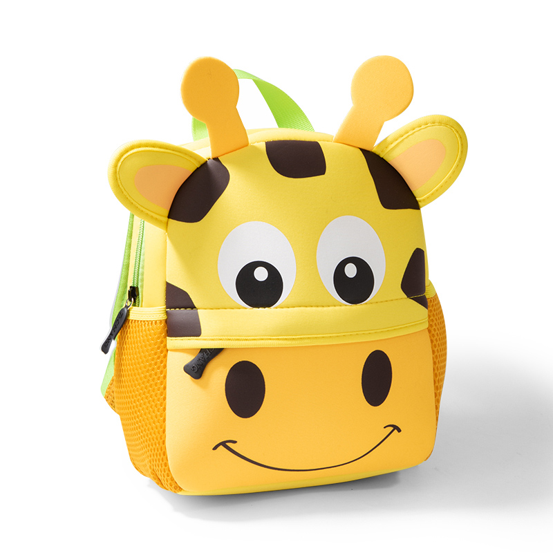 2020 New Children Backpacks 3D Giraffe Design Girl Boys School Bags Toddler Kids Neoprene Schoolbag Kindergarten Cartoon Pouch
