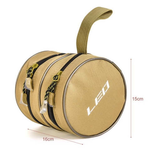 2019 New 2 Size Zipper Fly Fishing Reel Pouch Fishing Gear Accessories Storage Bag Fishing Fishermen Equipment Multan