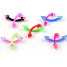 110Pcs Multicolor Body Piercing Jewellery Eyebrow Ring Sexy Vintage For Women Men