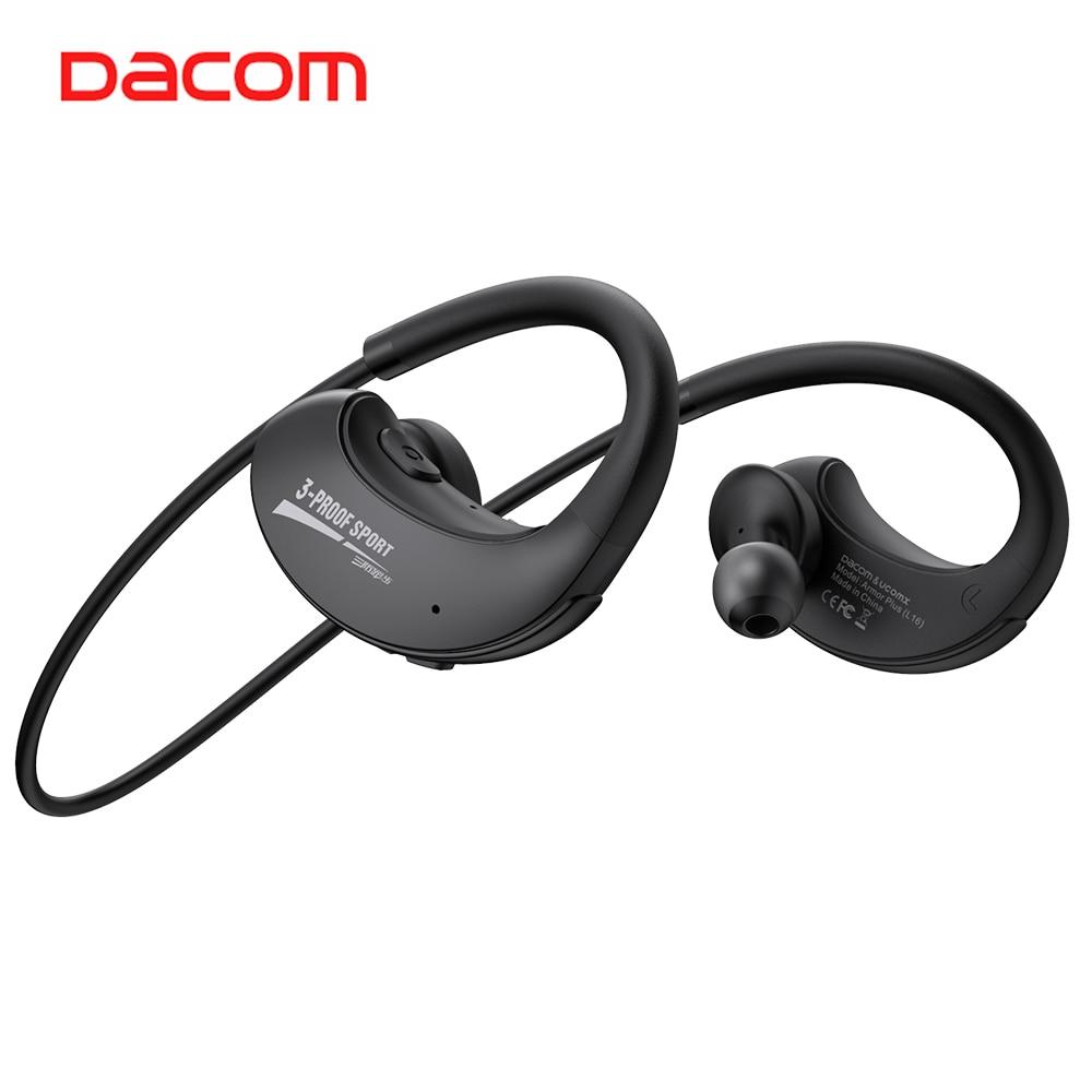 Dacom IPX5 ARMADURA Mais o Esporte Fones de Ouvido Sem Fio CSR Bluetooth 5.0 Fone De Ouvido fone de Ouvido Em Execução À Prova D' Água com as Mãos Livres para Telefone