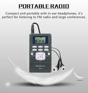 Image 3 - Retekess PR13 Radio FM PORTÁTIL ESTÉREO, Radio de bolsillo, receptor de reloj Digital para reuniones grandes, interpretación simultánea, F9213