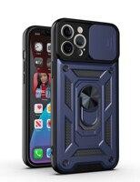 Custodia antiurto per telefono Slide Armor per iPhone 13 11 12 Pro Max 12 Mini 7 8 Plus XR X XS Max SE 2020 paraurti posteriore in TPU morbido