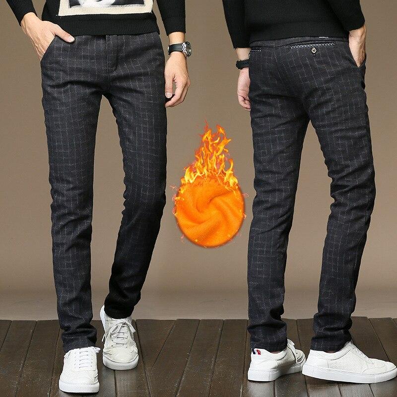 Winter New Men Warm Casual Pants  1