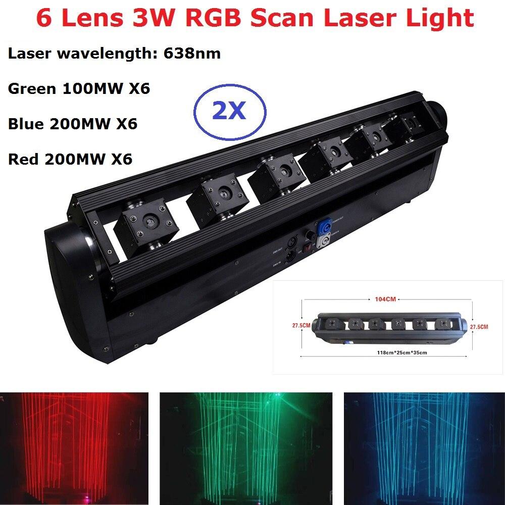 Lumière Laser Dj RGB 3W 6 lentille Laser faisceau lumineux DMX projecteur Laser lumière Laser stade éclairage effet Club équipement