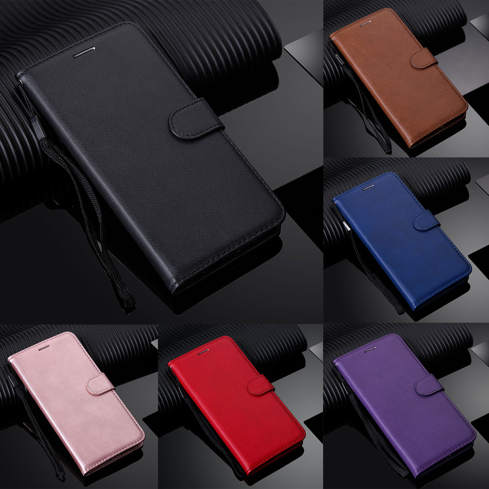 <font><b>Leather</b></font> Coque Flip Wallet <font><b>Case</b></font> for <font><b>Huawei</b></font> P30 P20 Pro Mate 30 20 10 Lite P Smart <font><b>Y5</b></font> Y6 Y7 Y9 2019 <font><b>2018</b></font> Funda With Strap <font><b>Case</b></font> image