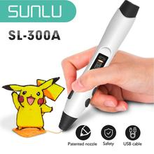 SL-300A 3D Printing Pen Support PLA/ABS/PCL Filament 2 Models Temperature 3D Drawing Safe To Children Drawing 3D Pens Set 3 colors low temperature gift box packing 3d pens for new year gift 3d printing pens for kid drawing with 10meter 10color pcl