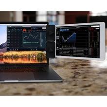 الجانب جبل كليب لمراقبة مزدوجة ، شاشة عرض مزدوجة جبل والكمبيوتر اللوحي حامل جبل لجهاز الكمبيوتر المحمول الخاص بك ، عرض فوري الثاني