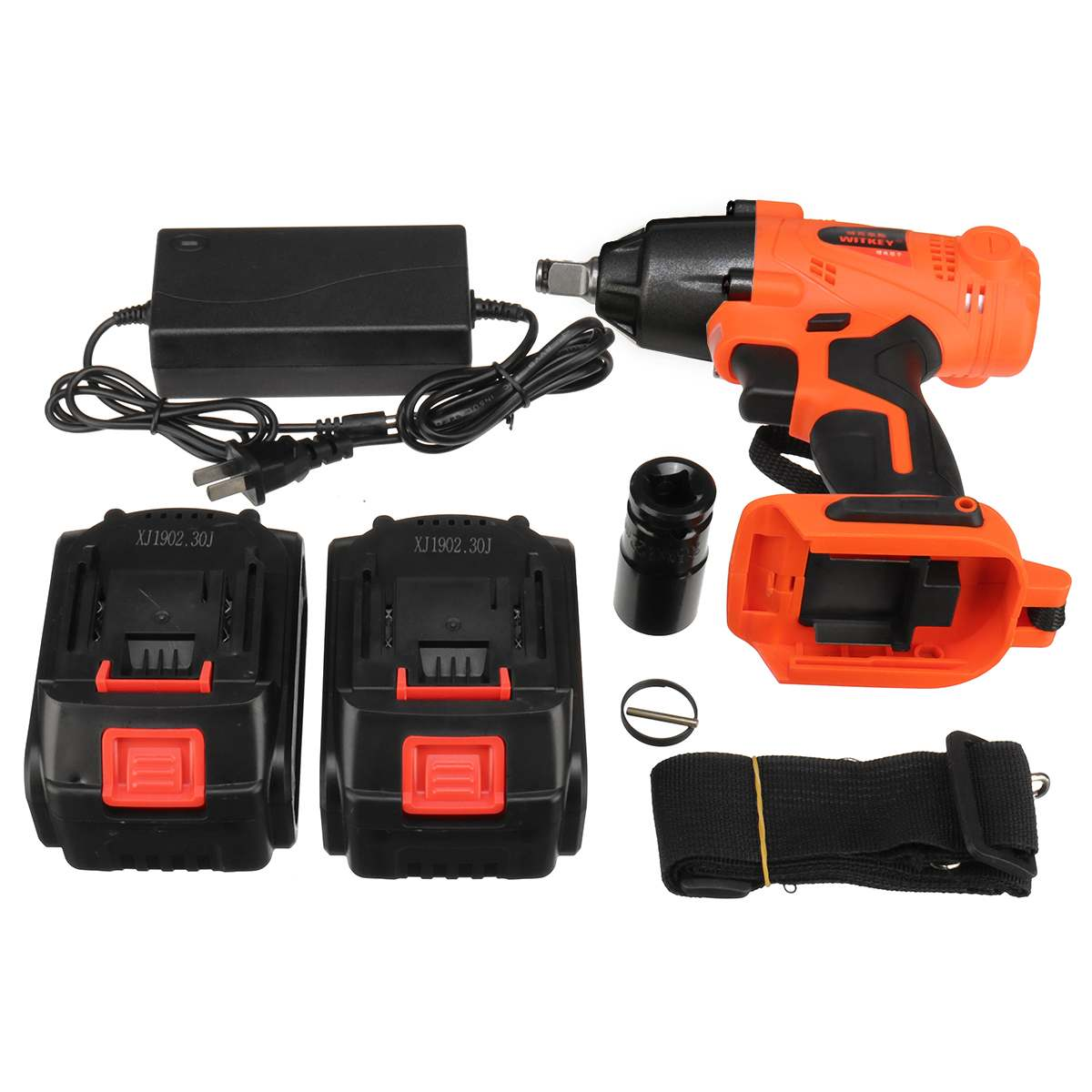 12800mAh 128VF/15000mAh 168V 1/2pcs Rechargeable Li-Ion Electric Cordless Impact Wrench With LED Light