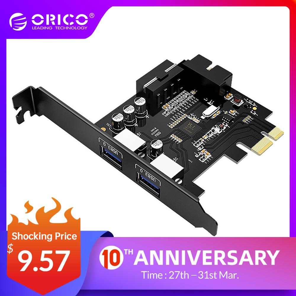 ORICO USB 3.0 PCI-E Expansion Card Adapter PCI-E USB 3.0 HUB Controller Adapter Card With 15Pin Power Supply PCI-E Extender Card