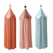 Bed Canopy Mosquito-Net Room-Decoration Princess-Bed Girls Cotton