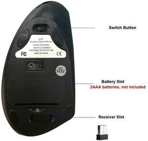 USB оптическая Вертикальная беспроводная мышь приемник Бесшумная компьютерная мышь для ПК Overwatch ноутбука Pk Logitech Xiaomi компьютерная мышь