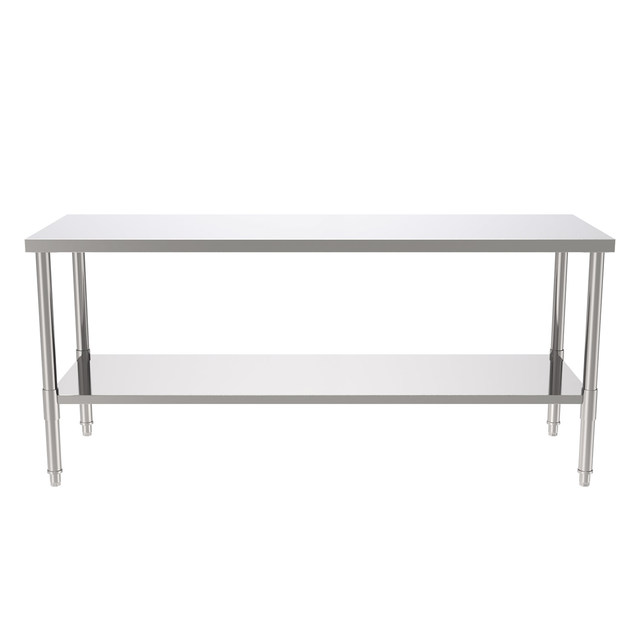 """72"""" Stainless Steel Galvanized Work Table 4"""
