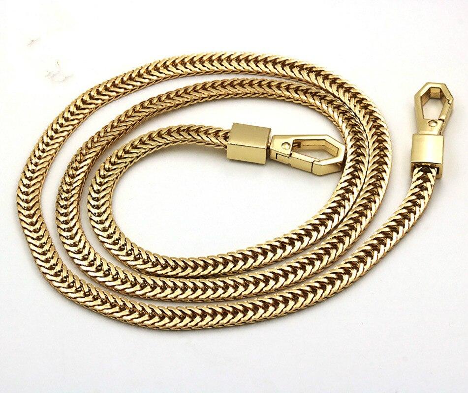 Shoulder strap Long 120cm/100cm Metal Purse Chain Strap Handle Handle Replacement For Handbag Shoulder Bag 4 Color