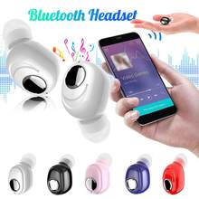 Bluetooth Earbud TWS Wireless Earphone Mini Headset For iPhone Xiao mi Android Cellphones TV PC Car Driving With Microphone(China)