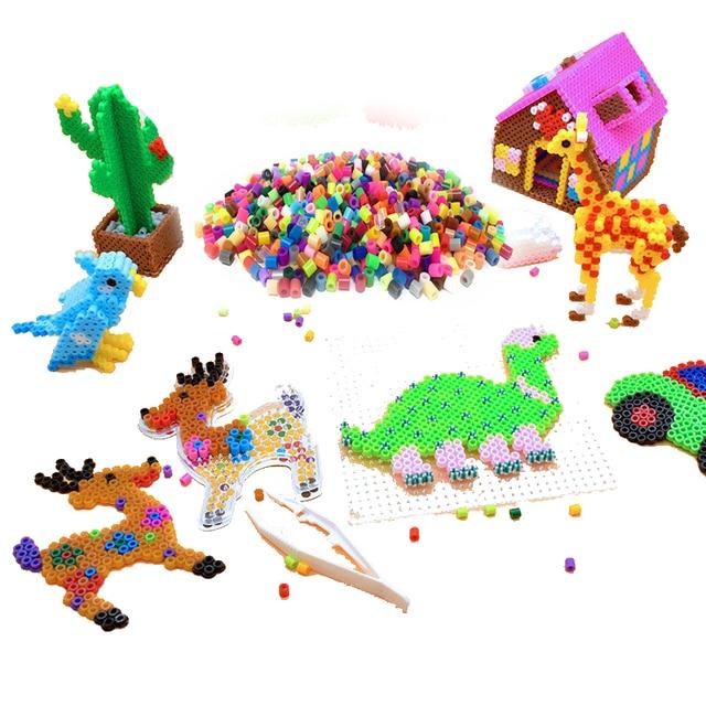 JINLETONG puzzle 1000 pieces Hama Beads 5mm Midi perler Fuse beads Hama Bead 5mm Mixed Iron Kids jigsaw puzzle Educational Toys 2