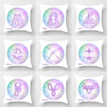 Single-sided Printing Polyester Decorative Cushion Cover Twelve Constellations Zodiac Sweet Home Pillow Case Decoration Ramadan