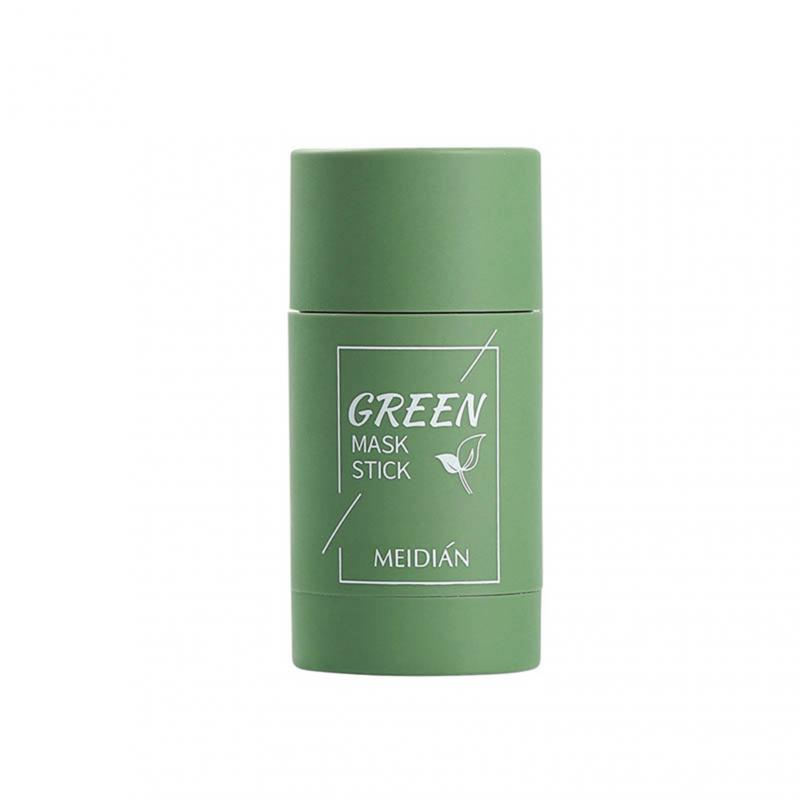 Green Tea Cleansing Solid Mask Purifying Clay Stick Anti-Acne Eggplant Skin Care Whitening Care Face