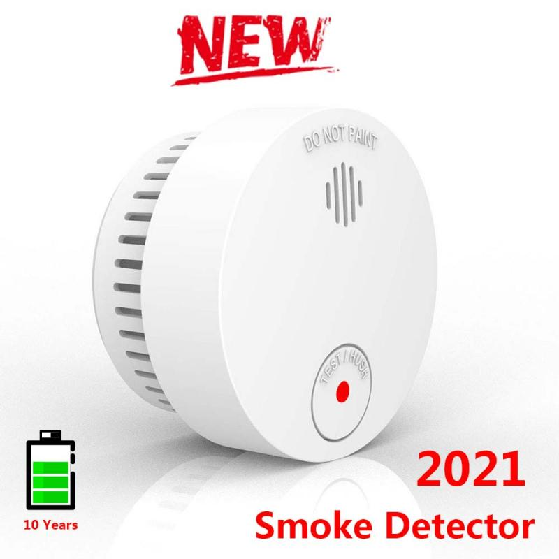 Smoke Sensor Fire Detector Voice Warn Alarm System Home Security Protection Carbon Monoxide Sensor 10 Years Use Lithium Devices