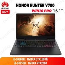 Honor hunter v700 gaming portátil 16.1 polegada 144hz inter núcleo i5-10300H/i7-10750H nvidia gtx1660ti/rtx2060 windows 10 pro inglês