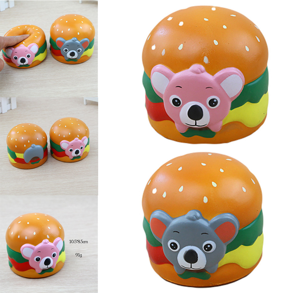 Stress Relief Toys Kawaii Squeeze Toys Squishy Koala Hamburger Stress Reliever Scented Super Slow Rising ToyW806