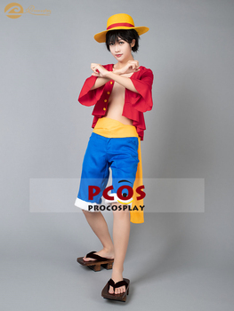 printio straw hat luffy one piece Procosplay one piece Monkey D . Luffy Straw Hat Luffy outfit cosplay  costume mp001154